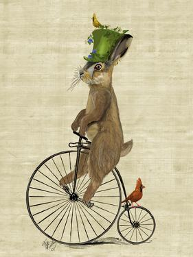 March Hare on Penny Farthing by Fab Funky