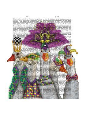 Mardi Gras Gaggle of Geese by Fab Funky