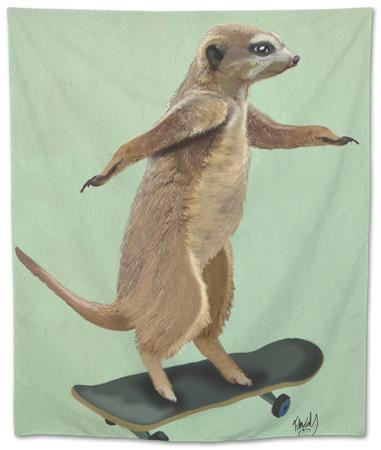 Meerkat on Skateboard by Fab Funky