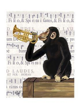 Monkey Playing Trumpet by Fab Funky