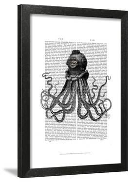 Octopus and Diving Helmet by Fab Funky