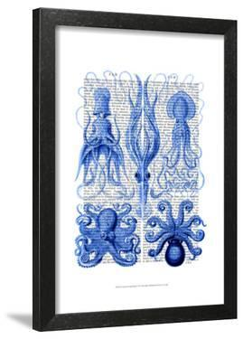 Octopus & Squid Blue by Fab Funky