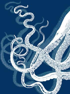 Octopus Tentacles Blue And White by Fab Funky