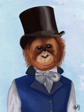 Orangutan in Top Hat by Fab Funky