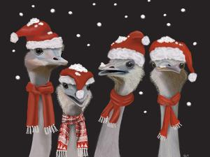 Ostrich, Christmas Gals by Fab Funky