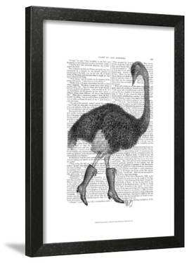 Ostrich In Boots by Fab Funky