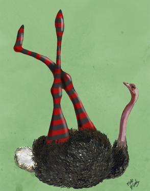 Ostrich Striped Leggings by Fab Funky