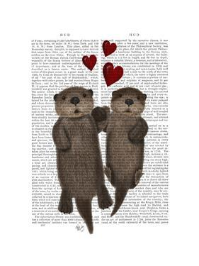 Otters Holding Hands by Fab Funky