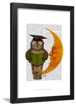Owl On The Moon by Fab Funky