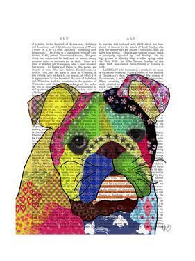 Patchwork Bulldog by Fab Funky