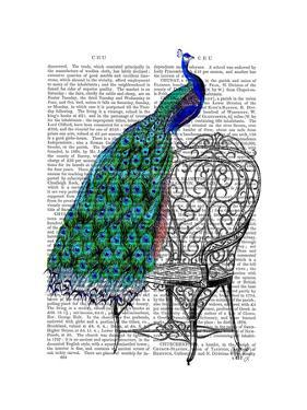 Peacock on Chair by Fab Funky