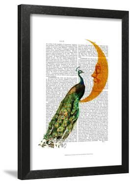 Peacock on the Moon by Fab Funky
