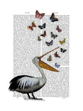 Pelican and Butterflies by Fab Funky