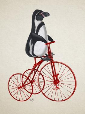 Penguin on Bicycle by Fab Funky