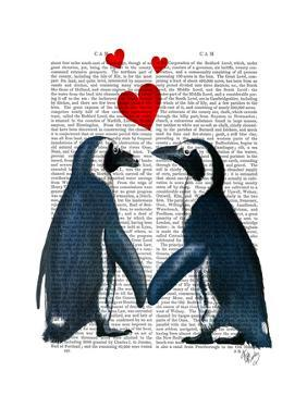 Penguins with Love Hearts by Fab Funky