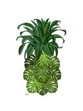 Pineapple, Monstera Leaf by Fab Funky