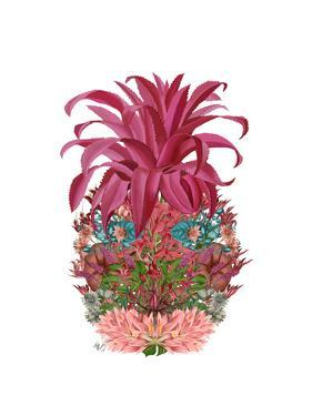 Pineapple, Tropical Flowers 2 by Fab Funky