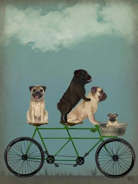 Pug Tandem by Fab Funky