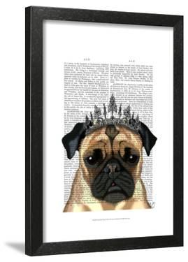 Pug With Tiara by Fab Funky