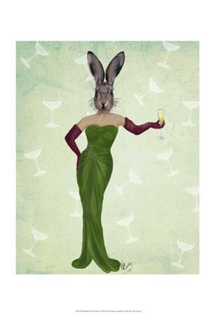 Rabbit Green Dress by Fab Funky