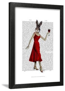 Rabbit in Red Dress by Fab Funky
