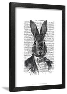 Rabbit In Suit Portrait by Fab Funky