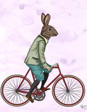 Rabbit On Bike by Fab Funky
