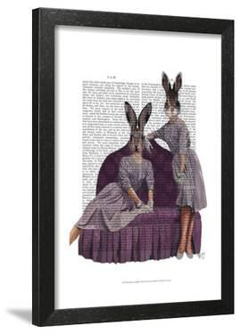 Rabbits in Purple by Fab Funky
