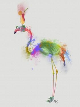 Rainbow Splash Flamingo 1 by Fab Funky