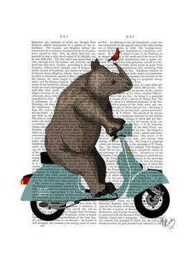 Rhino on Moped by Fab Funky