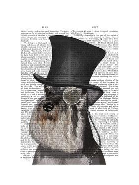 Schnauzer, Formal Hound and Hat by Fab Funky