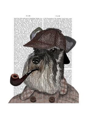 Schnauzer Sherlock by Fab Funky