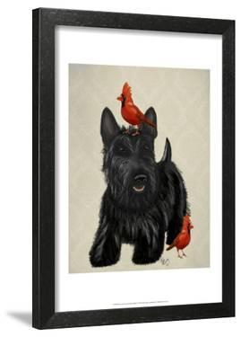 Scottie Dog and Red Birds by Fab Funky
