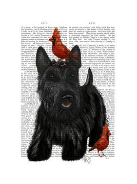 Scottish Terrier and Birds by Fab Funky