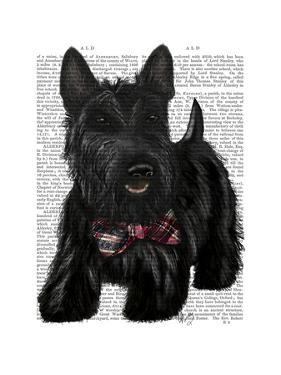 Scottish Terrier and Bow by Fab Funky
