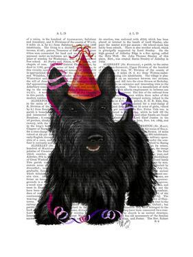 Scottish Terrier and Party Hat by Fab Funky
