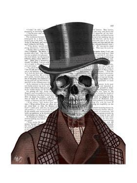 Skeleton Gentleman and Top hat by Fab Funky