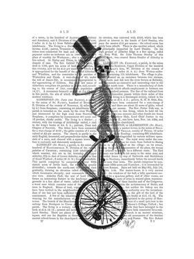 Skeleton on Unicycle by Fab Funky