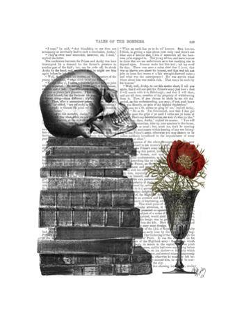 Skull And Books by Fab Funky