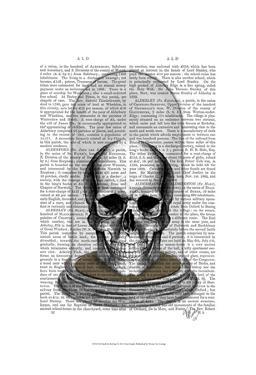 Skull In Bell Jar by Fab Funky