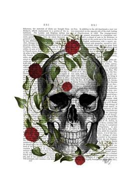 Skull Vines and Flowers by Fab Funky