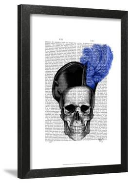 Skull with Blue Hat by Fab Funky