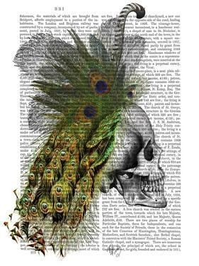 Skull With Feather Headress by Fab Funky