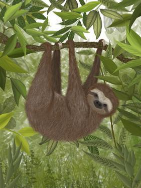 Sloth Hanging Around by Fab Funky
