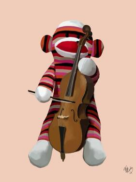 Sock Monkey and Cello by Fab Funky