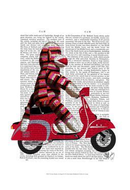 Sock Monkey on Moped by Fab Funky