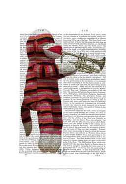 Sock Monkey Playing Trumpet by Fab Funky