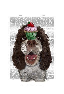 Springer Spaniel with Cupcake by Fab Funky