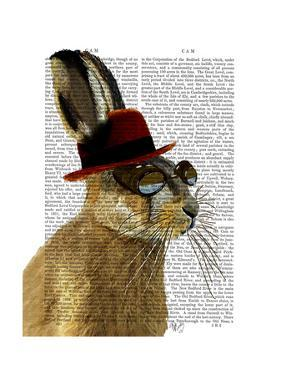 Steampunk Hare with Bowler Hat by Fab Funky