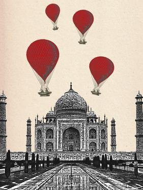 Taj Mahal and Red Hot Air Balloons by Fab Funky